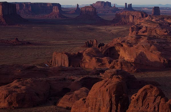 View From Hunt's Mesa, no. 4085, Monument Valley Navajo Tribal Park, AZ 2010